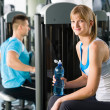 At the fitness center — Stock Photo