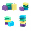 Set of a colorful sponges — Stock Photo