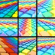 3d colorful rainbow texture set - Stock Photo