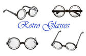 Set of retro glasses — Stock Photo