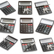 Set of calculator isolated — Stock Photo