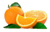 Oranges isolated — Stock Photo
