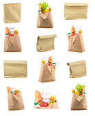 Set of paper bag isolated — Stock Photo