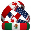 Stock Photo: NAFT- USA, Canada, Mexico