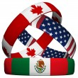 Royalty-Free Stock Photo: NAFTA - USA, Canada, Mexico