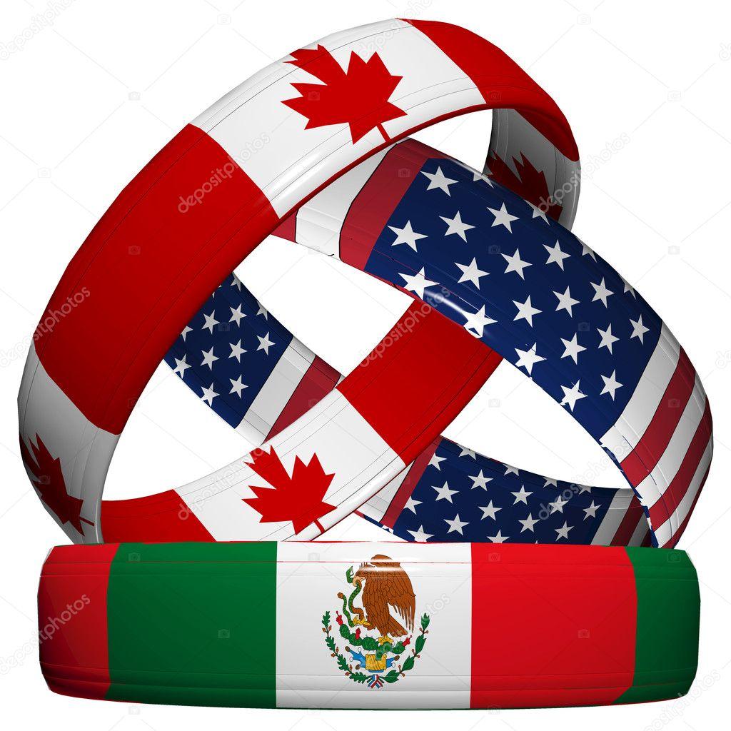 Mexico y Estados Unidos Banderas México Estados Unidos