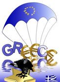 Euro crisis Greece — Stock Photo