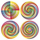 Set of artistic designed rosettes — Stock Vector