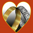 Love and money — Stock Photo