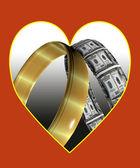 Love and money — Stock Photo