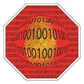 Stop spyware — Stockfoto