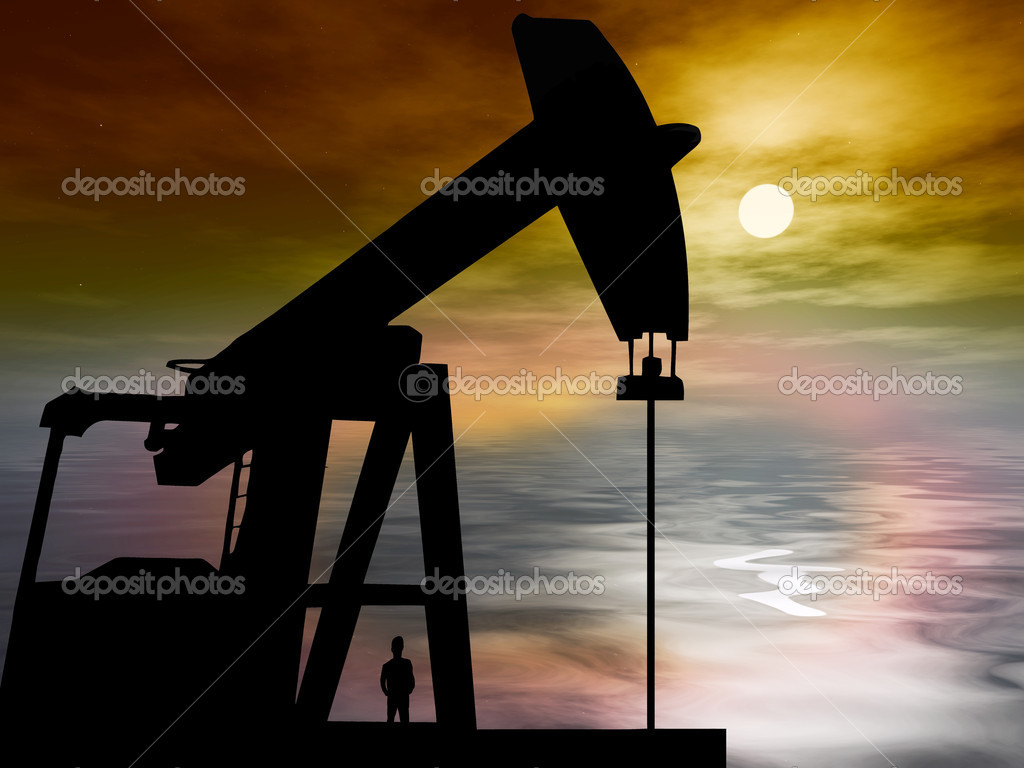 Oil drilling in the ocean is causing environmental problems like pollution — Stock Photo #8604221
