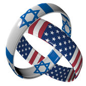 Israel and America — Stock Photo