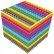 3D cube color — Stock fotografie