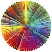 Rainbow color wheel — Stock Photo