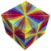 3D cube in rainbow colors — Stock Photo