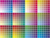 Vector color palette — Stock Vector