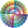 Stock Vector: Vector color wheel