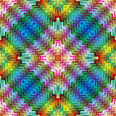 Abstract mosaic inspired by Maya culture — Stockvector