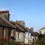 Terrace houses homes England Hastings — Stock Photo #8088761