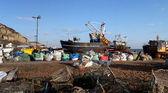 Trawler fishing boat industry Hastings England — Stock Photo