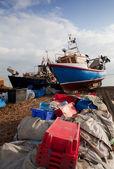 Fishing industry England trawler boat — Stock Photo