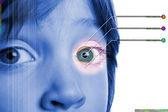 Iris scanbiometric identity — Stock Photo