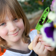Stock Photo: Child garden flowers planting plant gardening