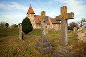 Grave graveyard Church England medieval — Stock Photo