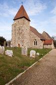Kościół grób anglii cmentarz średniowieczny — Zdjęcie stockowe
