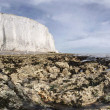 Cliff seaside England Sussex chalk — Stock Photo