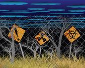 De zone van verontreiniging — Stockvector