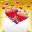 Love letter with a heart - Stockvectorbeeld