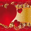 The background to the day of lovers - Imagen vectorial