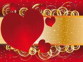Lo sfondo per il giorno degli innamorati — Vettoriale Stock