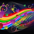 An abstract love song - Stock Vector