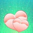 Two loving hearts — Imagen vectorial