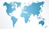 Karta över världen — Stockvektor
