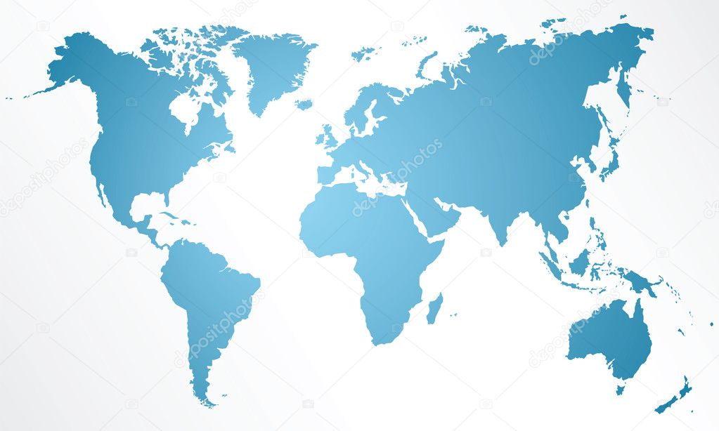 Detailed map of the world isolated on white background — Stock Vector #8304494