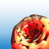 Kırmızı gül 3d — Stok fotoğraf