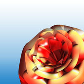 Röd ros 3d — Stockfoto
