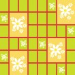 Abstract seamless pattern with daisies — 图库矢量图片