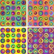 Seamless pattern with circles — Imagen vectorial