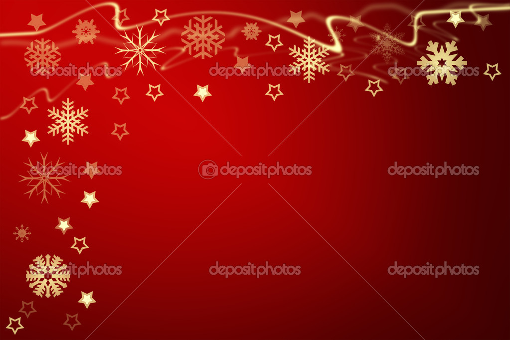 Christmas background for your designs with stars and snowflakes  Stock Photo #9272615