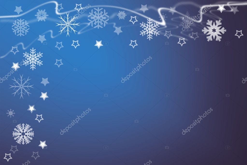 Christmas background for your designs with stars and snowflakes  Stock Photo #9272621