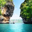 Rocks and sea in Krabi Thailand — Stock Photo #10035873