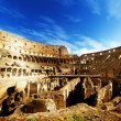 Inside of Colosseum in Rome, Italy - Stockfoto