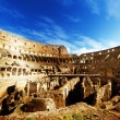Inside of Colosseum in Rome, Italy -  