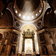Inside the St. Peter Basilica, Vatican - Stock Photo