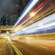 Traffic in Hong Kong at night — Stock Photo #10201819